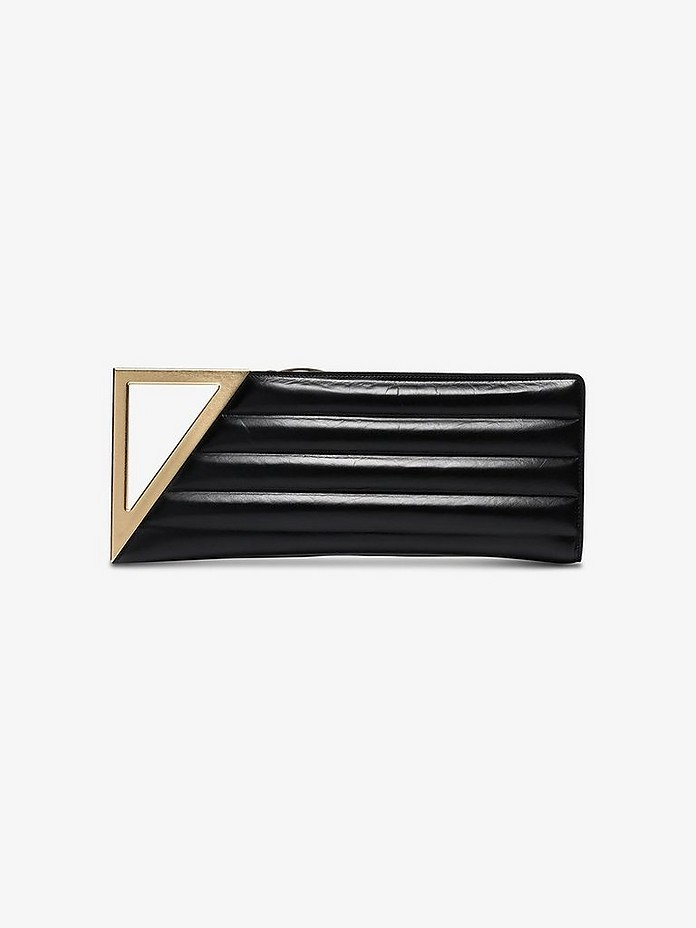 Black BV Rim quilted leather clutch bag - Bottega Veneta