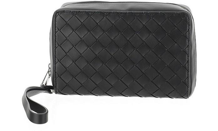 Black Braided Leather Wallet - Bottega Veneta