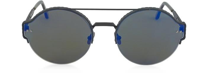 BV0013S Round Metal Frame Unisex Sunglasses - Bottega Veneta