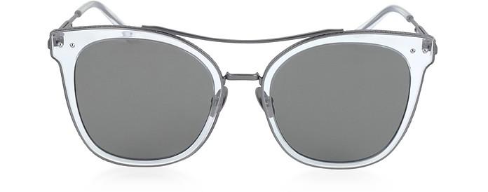 BV0064S Round Metal Frame Women's Sunglasses  - Bottega Veneta