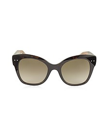 BV0083S Acetate Cat Eye Women's Sunglasses - Bottega Veneta