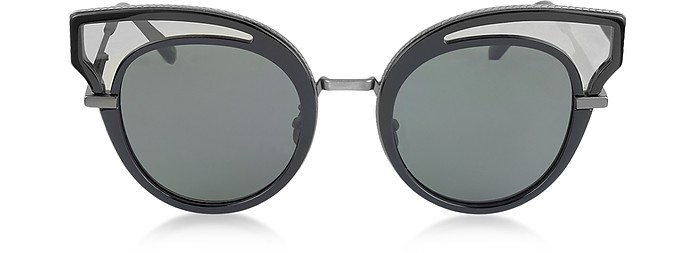 BV0094S Cat Eye Damen-Sonnenbrille aus Acetat - Bottega Veneta