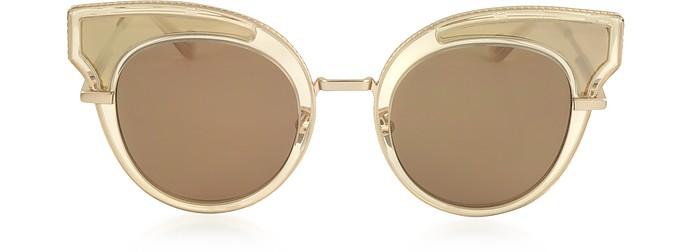 BV0094S Acetate Cat Eye Women's Sunglasses - Bottega Veneta