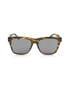 BV0098S 002 Light Havana Acetate Frame Unisex Sunglasses - Bottega Veneta