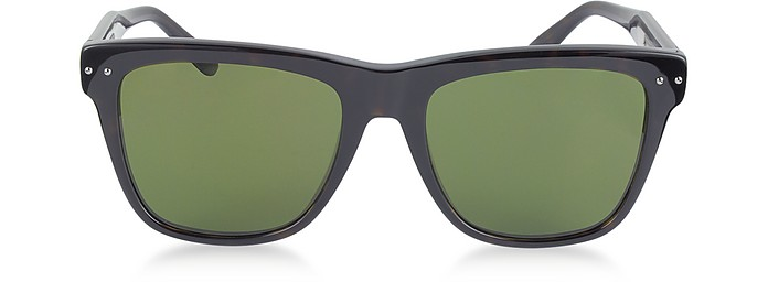 BV0098S 005 Light Havana Acetate Frame Unisex Sunglasses - Bottega Veneta