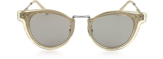 BV0117S 004 Gafas de Sol Unisex en Metal Rutenio - Bottega Veneta