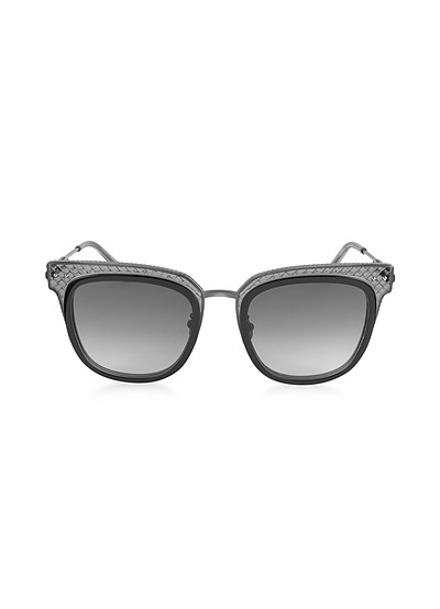 BV0122S Square Acetate Frame Women's Sunglasses - Bottega Veneta