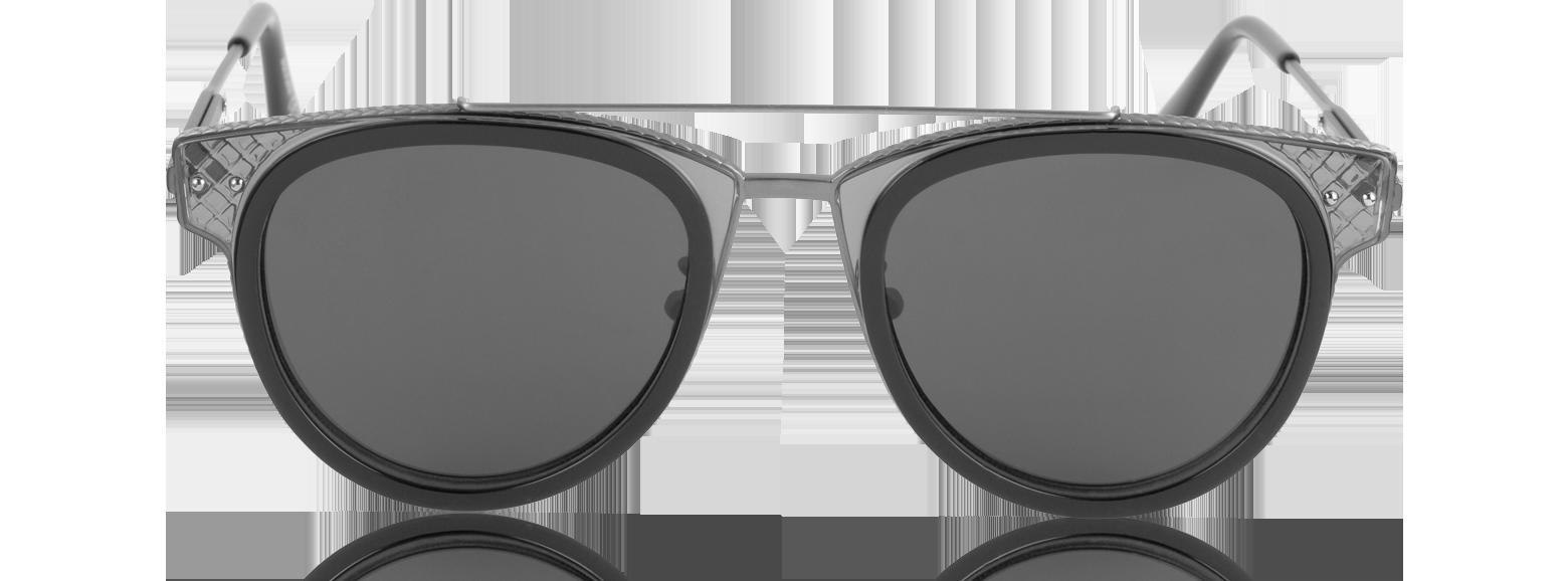 Accesorios - Bottega Veneta Negro / Negro BV0123S Gafas de Sol Unisex de Metal y Acetato Excelente calidad bv470017-014-00 DTKKYCI