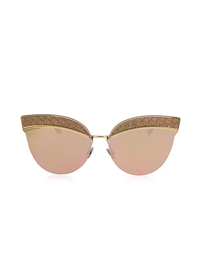 BV0101S Metal Cat-Eye Women's Sunglasses - Bottega Veneta