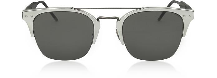 BV0146S 004 Silver Alluminium Unisex Sunglasses - Bottega Veneta