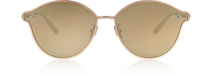 BV0139S 004 Golden Metal Unisex Sunglasses - Bottega Veneta