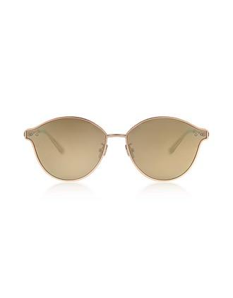 d4f101e1c832 BV0139S 004 Golden Metal Unisex Sunglasses - Bottega Veneta