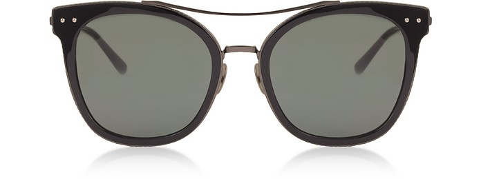 BV0064S 001 Black Metal Women's Sunglasses - Bottega Veneta