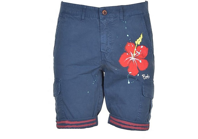 Men's Blue Bermuda Shorts - Bob