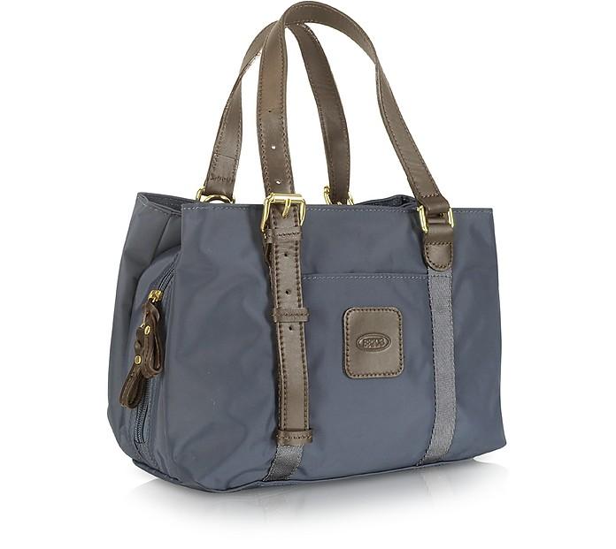 x bag petit sac de voyage bric 39 s gris sur forzieri. Black Bedroom Furniture Sets. Home Design Ideas