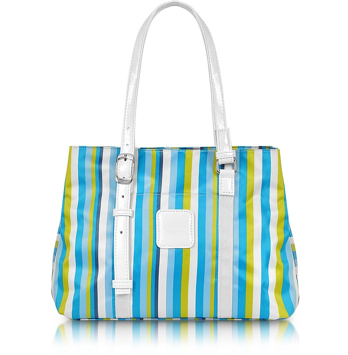 X-Bag Righe - Striped Nylon Satchel Tote - Bric's