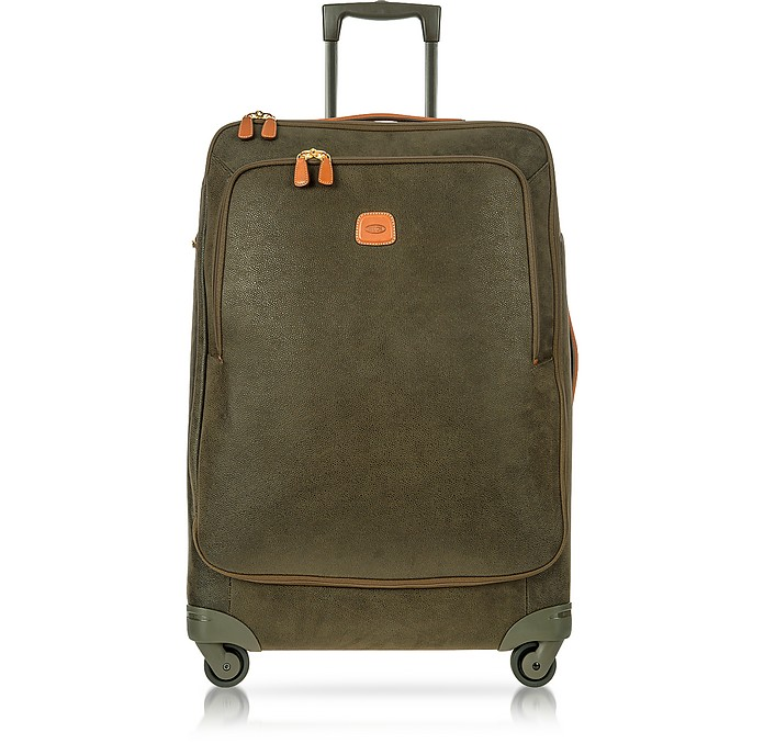 Life Olive Green Micro Suede Large Trolley - Bric's