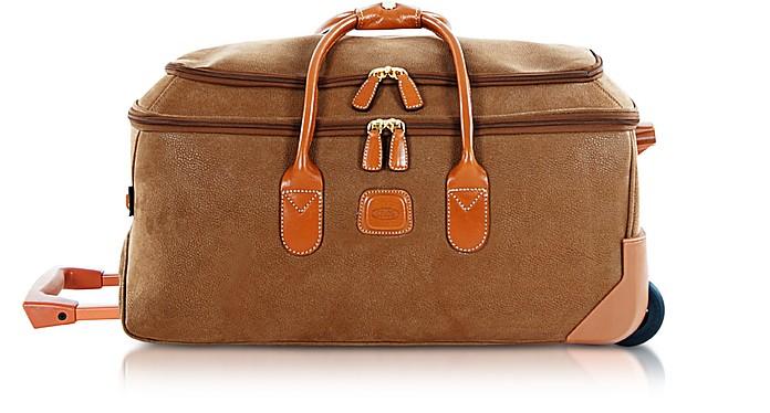Life - Medium Camel Micro Suede Rolling Duffle Bag  - Bric's