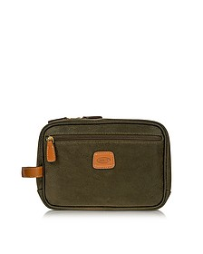 Life - Olive Green Micro Suede Travel Case - Bric's