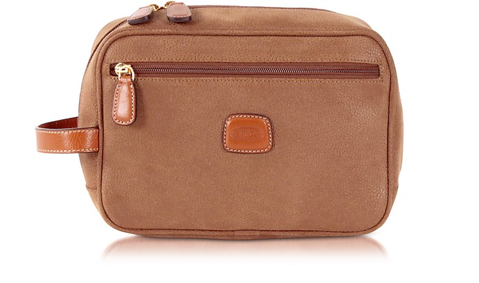 Life - Camel Micro Suede Travel Case - Bric's / ブリックス