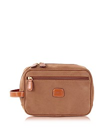 Life - Camel Micro Suede Travel Case - Bric's