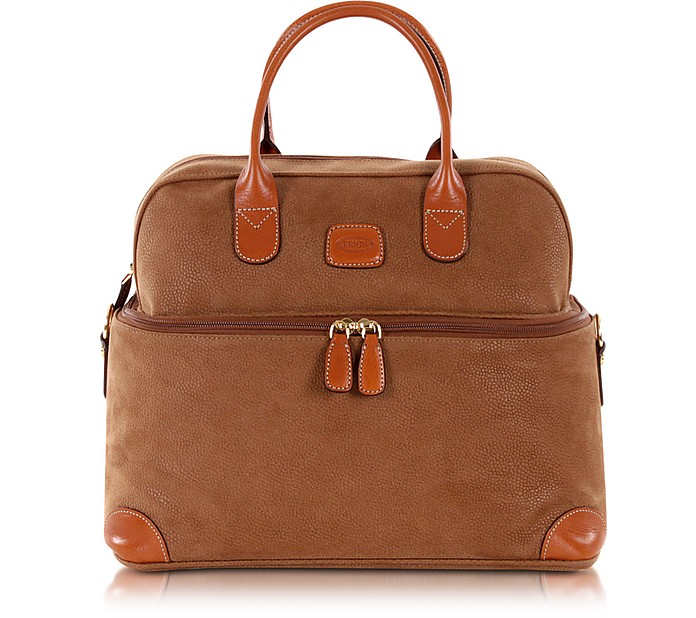 Life - Camel Micro Suede Beauty Case Bag - Bric's