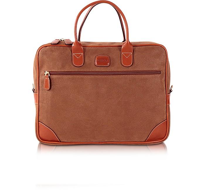 Life Camel Micro Suede Briefcase - Bric's