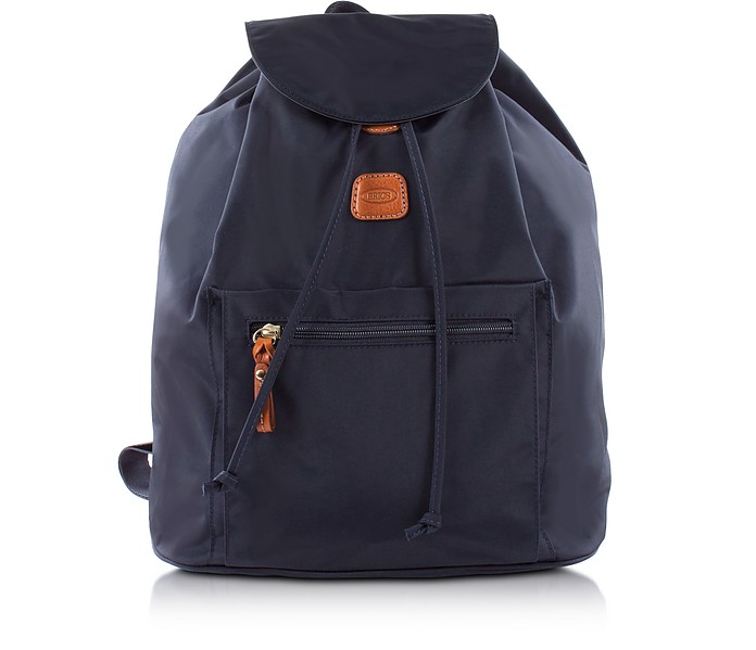 X-TRAVEL BLUE NYLON BACKPACK