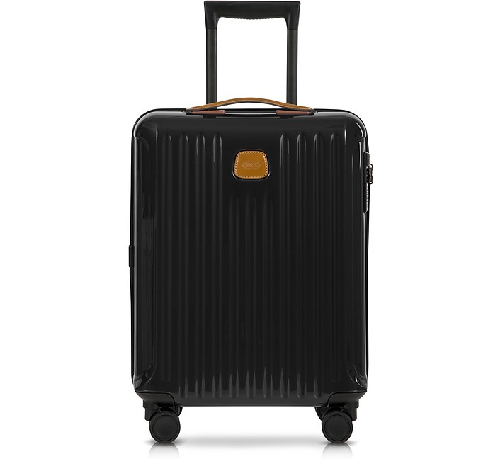 Capri Black/Tobacco Polycarbonate Hard Case Cabin Trolley