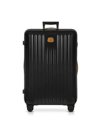 Capri Black/Tobacco Polycarbonate Large Trolley - Bric's