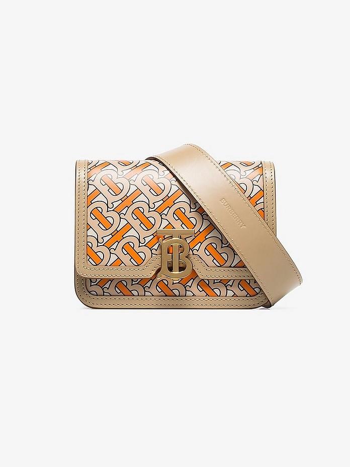 Belted Monogram Print Leather TB Bag - Burberry 巴伯莉