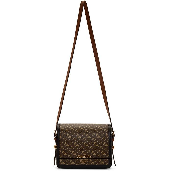 Brown E-Canvas Small Grace Bag - Burberry
