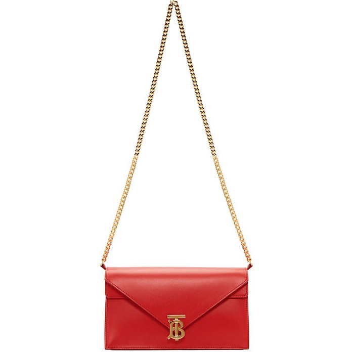 Red Small TB Envelope Bag - Burberry
