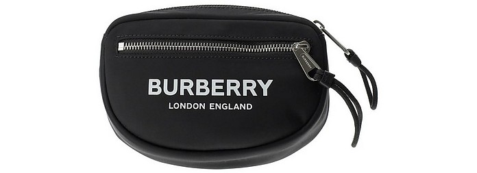 Cannon Black Nylon Beltbag  - Burberry