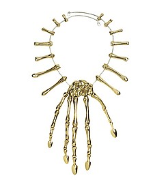 Bronze Skeleton Hand Necklace - Bernard Delettrez