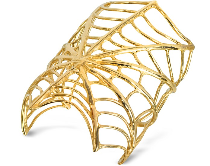 Giant Spiderweb Armreif aus Bronze - Bernard Delettrez