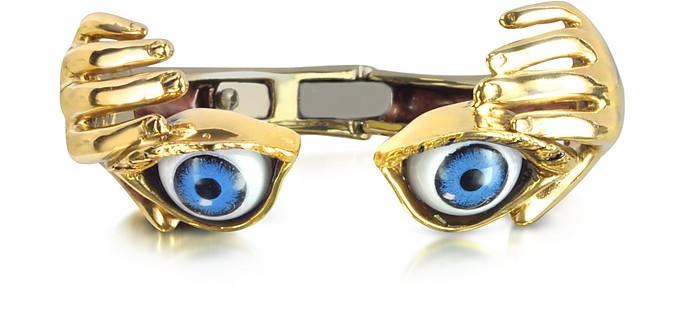 Armband aus Bronze mit blauen Augen  - Bernard Delettrez
