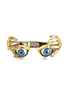 Bracelet en bronze main et yeux - Bernard Delettrez