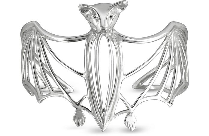 Silver Cated Bat Cuff Bracelet - Bernard Delettrez
