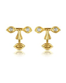 Osvaldo Piercing Gold Earrings - Bernard Delettrez