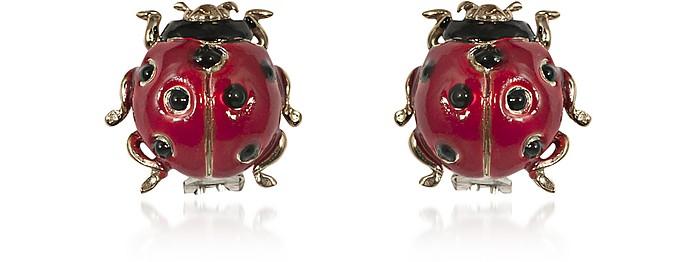 Ohrringe mit Marienkäfer aus Bronze - Bernard Delettrez