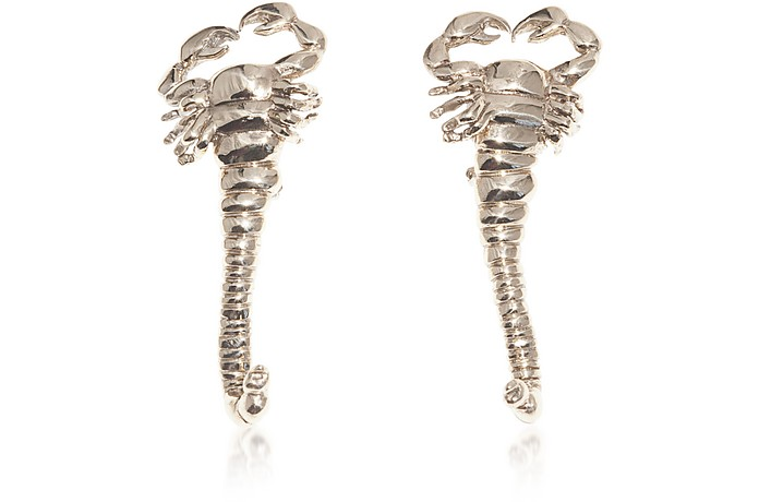 Big Scorpio Bronze Earrings - Bernard Delettrez