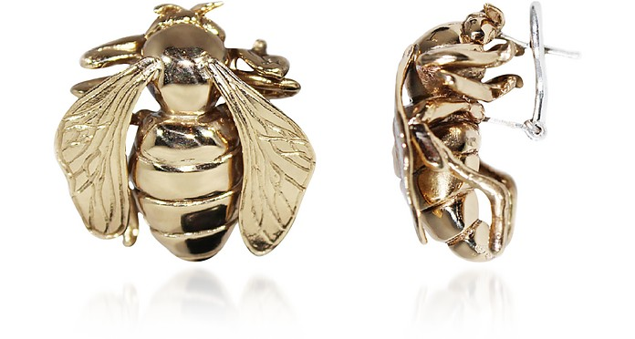 Big Bee Bronze Earrings - Bernard Delettrez