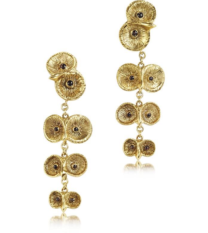 Bronze 4 Owls Earrings - Bernard Delettrez
