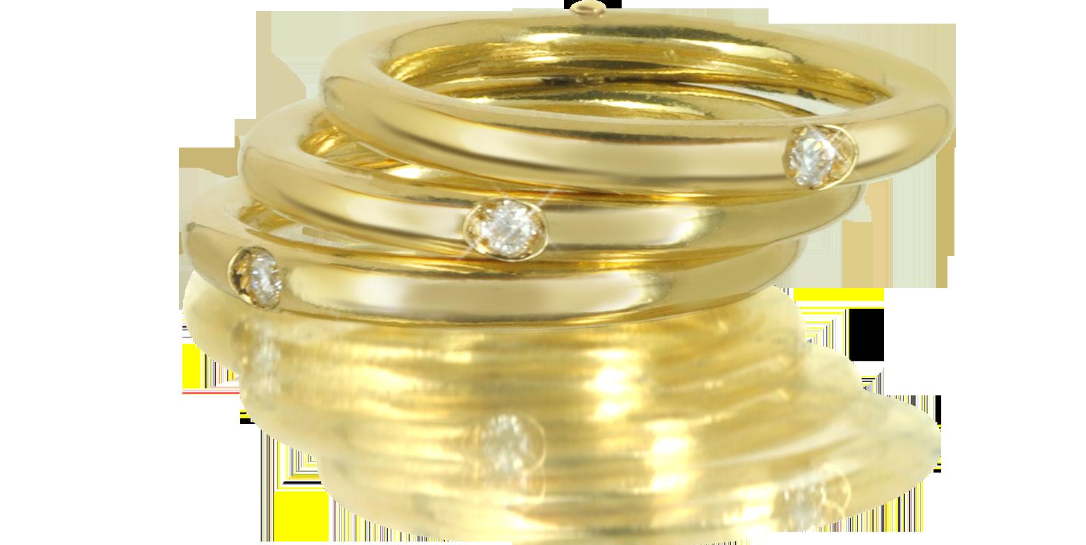Joyas - Bernard Delettrez 10 Anillo Double Secret de Oro 18K con Diamantes  Diseño encantador bz410016-029-00 XGPMSIH