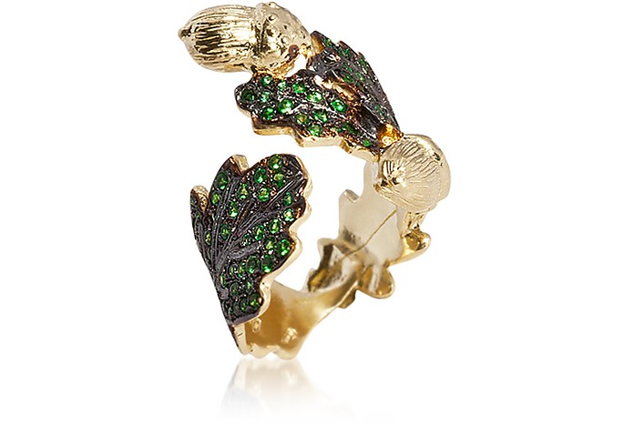 Oak leaf Gold Ring - Bernard Delettrez