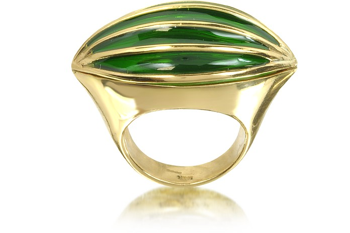 Bronze Poison Ring w/Eye - Bernard Delettrez
