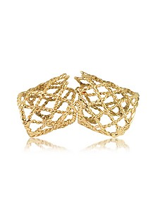 Gold Articulated Basket Weave Ring