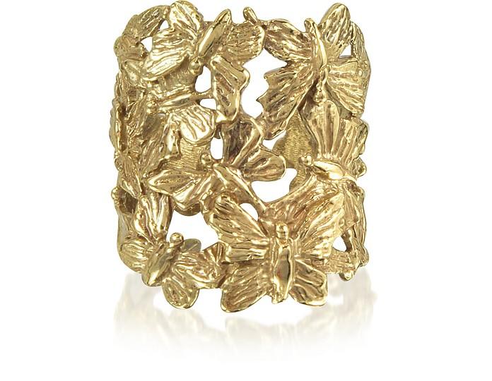 Bague en Bronze Doré avec Papillons - Bernard Delettrez