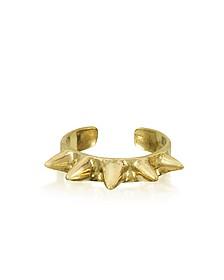 Single Band Bronze Ring w/Spikes - Bernard Delettrez